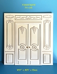 1:6 scale Royal French Double Door panel Top Quality hand crafted of wood