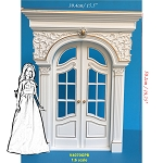 1:6 Scale Fancy craved White Victorian French door  for Barbie size dollhouse miniature Handcrafted Limited Edition