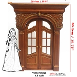 1:6 Scale Fancy craved Victorian French door  for Barbie size dollhouse miniature Handcrafted Limited Edition