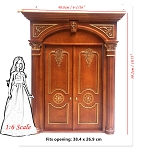 1:6 Scale Stunning craved Victorian Double door  for Barbie size dollhouse miniature Handcrafted Limited Edition
