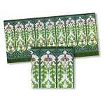 Nouveau Wall Tiles wallpaper for dollhouse miniature 1:12 scale - one sheet