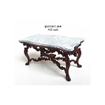 Exquisite carved coffee table Victorian MH and marble for 1:12 dollhouse miniature