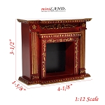 Fine Quality fireplace for Dollhouse miniature 1:12 MH wood