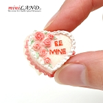 Valentine's day Heart Be Mine Cake for 1:12 dollhouse miniature