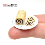 Chocolate roll - pinwheeli for 1:12 dollhouse miniature