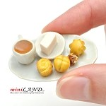 Breakfast platter for 1:12 dollhouse miniature