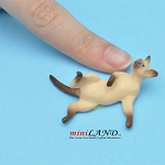 "Rolling Cat Siamese 1⁄2""H/13⁄4""L/11⁄4""W For dollhouse miniatures 1:12 scale"