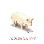 pig 1¼ H/2½ L/1? W male For dollhouse miniatures 1:12 scale