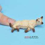 "Cat Siamese 1⁄2""H/13⁄4""L/1""W For dollhouse miniatures 1:12 scale"