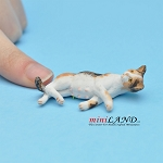 "Cat 1⁄2""H/13⁄4""L/1""W For dollhouse miniatures 1:12 scale"