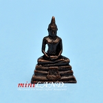 "Buddha  metal 1""H Bust statue figure dollhouse miniature 1:12"