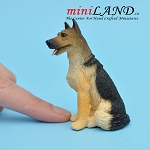 German Shepherd Dog for Dollhouse miniature 1:12 scale