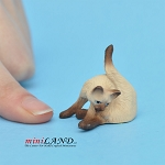 Cat Siamese 1 H/1  L/¾ W For dollhouse miniatures 1:12 scale