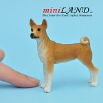 Basenji Dog for Dollhouse miniature 1:12 scale