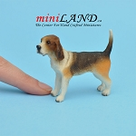 Standing Beagle Dog for Dollhouse miniature 1:12 scale