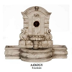 Outdoor grey  stone Fountain for 1:12 dollhouse miniature Poly-resin