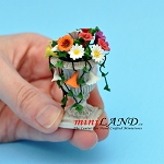 "Arrangement Mixed Flowers 2""H for dollhouse miniature 1:12 scale"