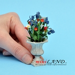Arrangement Mixed Flowers for dollhouse miniature 1:12 scale