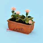 Pink Geranium In Window Box  for dollhouse miniature 1:12 scale