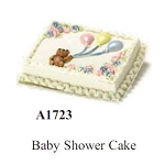 BABY SHOWER CAKE for dollhouse miniature 1:12 scale