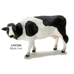Black cow -  for 1:12 dollhouse miniature