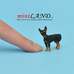 standing, miniature pincher dog for Dollhouse miniature 1:12 scale