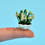 White Iris In Bowl Sm for dollhouse miniature 1:12 scale