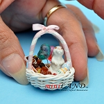 Easter Basket  dollhouse miniature 1:12