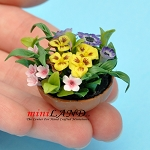 Arrangement Mixed Floral  for dollhouse miniature 1:12 scale