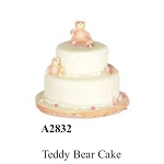 TEDDY BEAR CAKE for dollhouse miniature 1:12 scale