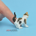 Cat Rubbing Left Calico For dollhouse miniatures 1:12 scale