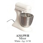White Lg metal mixer for dollhouse miniature 1:12 scale