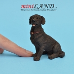 Chocolate Labrador with  Collar Dog for Dollhouse miniature 1:12 scale
