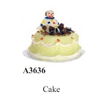 Clown cake for dollhouse miniature 1:12 scale