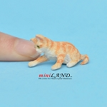 Playing Kitten orange For dollhouse miniatures 1:12 scale