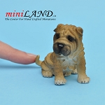 Shar Pei Sitting Dog for Dollhouse miniature 1:12 scale