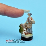 Morning Walk statue figurine dollhouse miniature 1:12