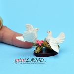 Dove Couple statue figurine dollhouse miniature 1:12