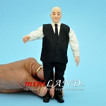ALFRED - Bald older man in elegant elegant suit  1:12 scale