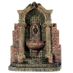 Outdoor beautiful age stone Fountain for 1:12 dollhouse miniature Polyresin