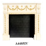Victorian Elegant FIREPLACE Ivory for 1:12 dollhouse miniature
