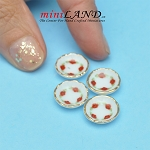 4 Pcs. Dessert Plates for dollhouse miniaturize 1:12 scale