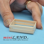 Wooden Vegetable Crate for dollhouse miniature 1:12 scale