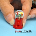 Tabletop gumball machine  dollhouse miniature 1:12