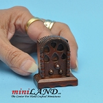Vintage wooden radio dollhouse miniature 1:12