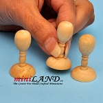 3 piece wooden hat mannequin stand dollhouse miniature 1:12