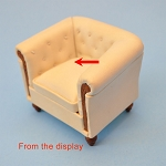 As IS - white Leather armchair from the display unit 0009