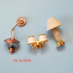 AS IS -  3pcs non-working lights for decorative purposes or for parts 0014