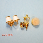 AS IS -  3pcs non-working lights for decorative purposes or for parts 0015