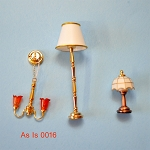 AS IS -  3pcs non-working lights for decorative purposes or for parts 0016